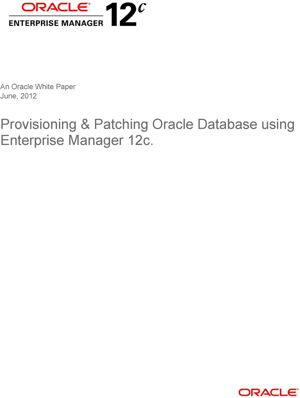 Patching Oracle Database
