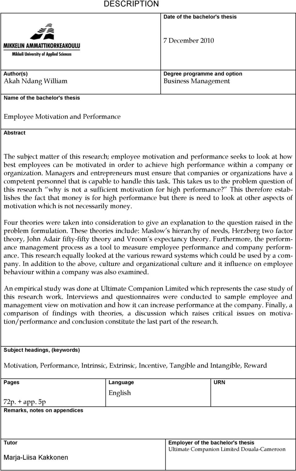 employee motivation thesis leadership affects on employee  dissertation on employee motivation and performance dissertation on employee motivation and performance