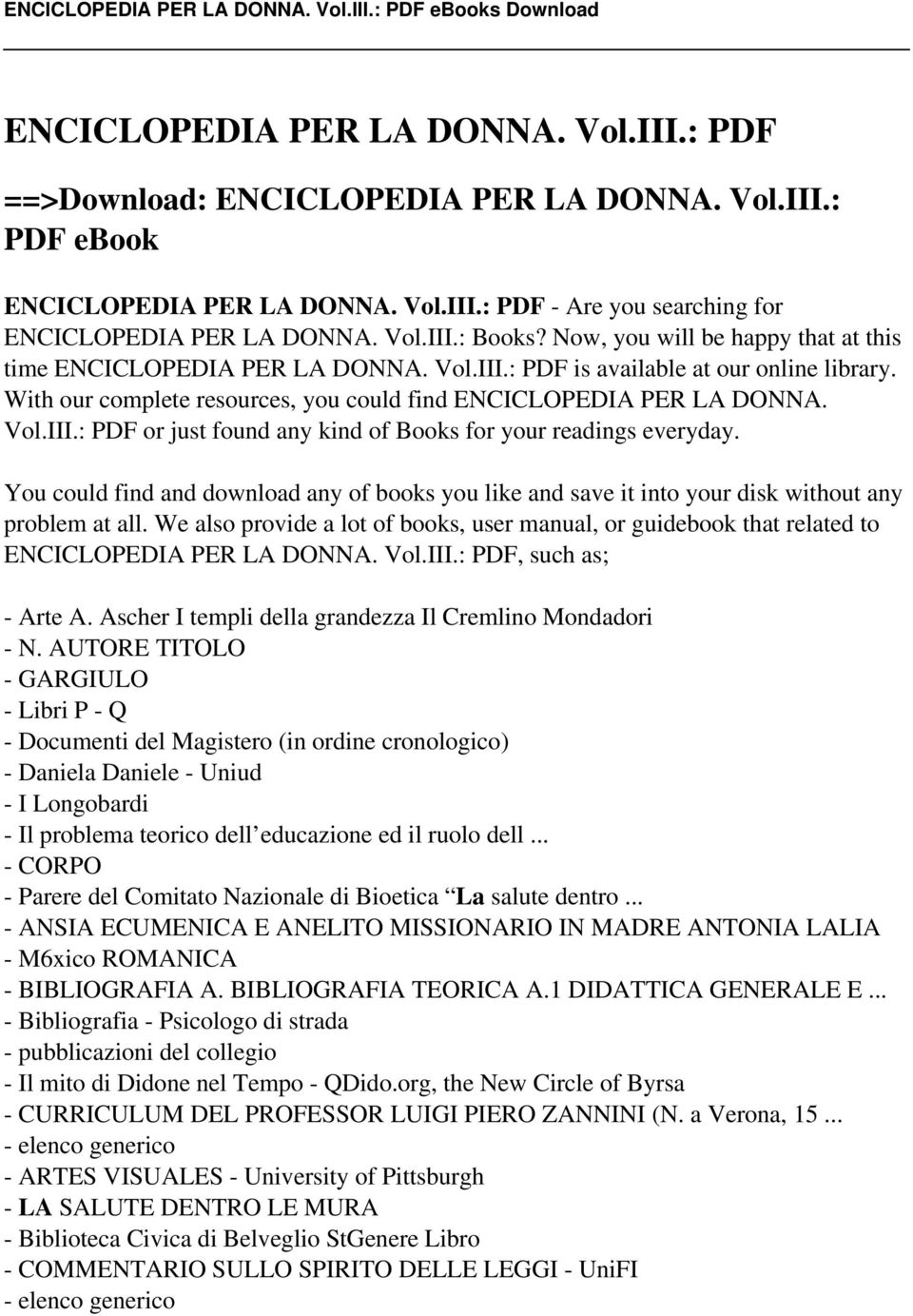Enciclopedia per la donna voliii pdf pdf you could find and download any of books you like and save it into your disk fandeluxe Images