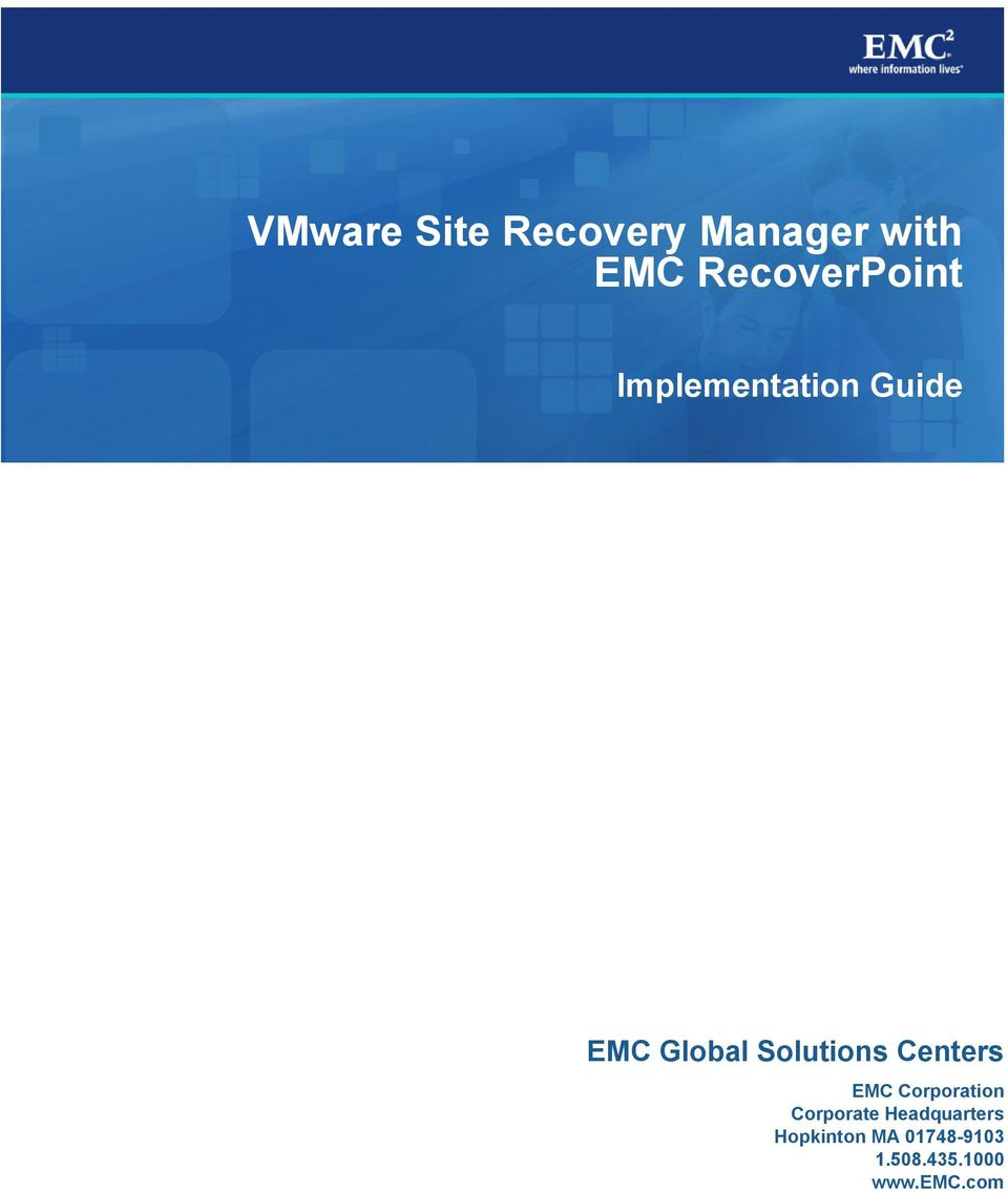 Solutions Centers EMC Corporation Corporate
