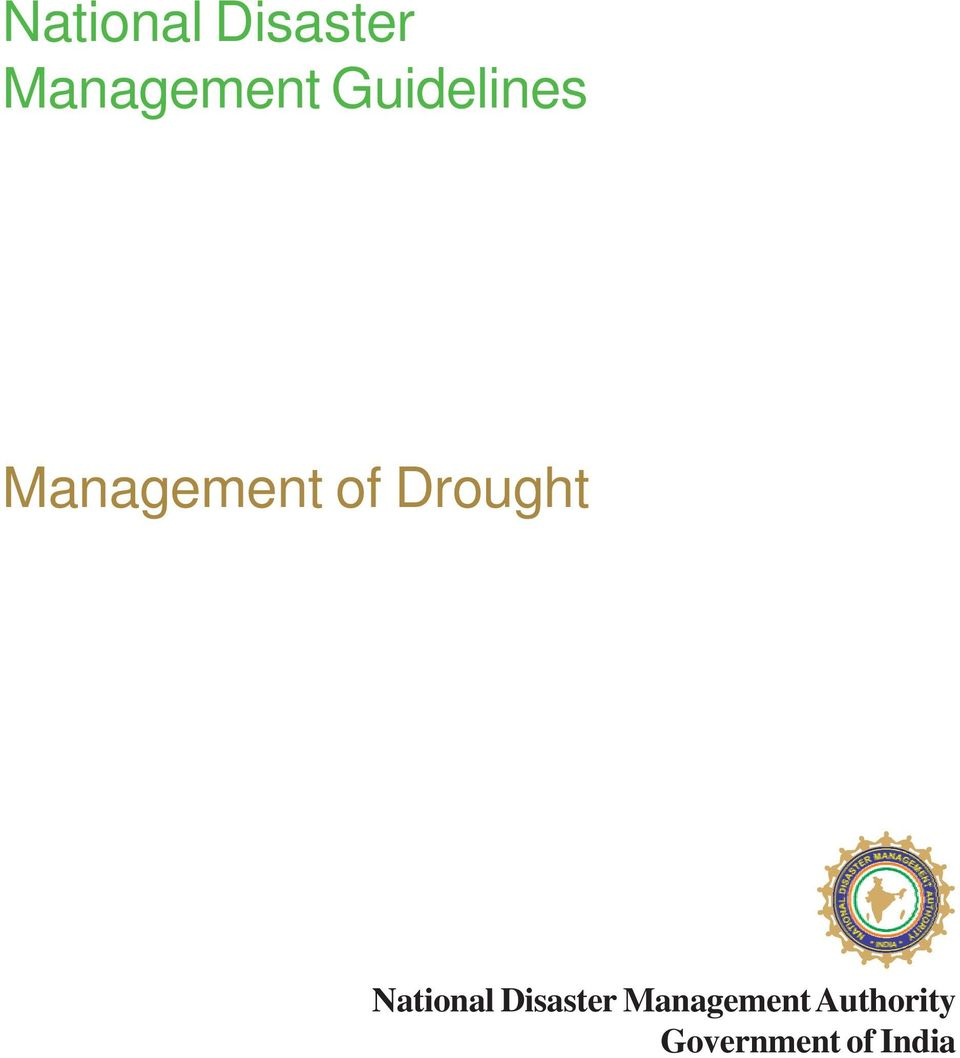 Drought  Authority Government