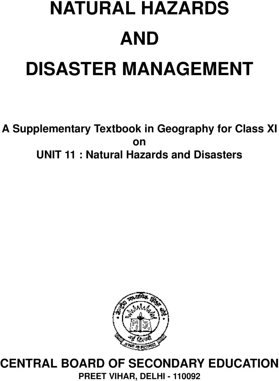 on UNIT 11 : Natural Hazards and Disasters