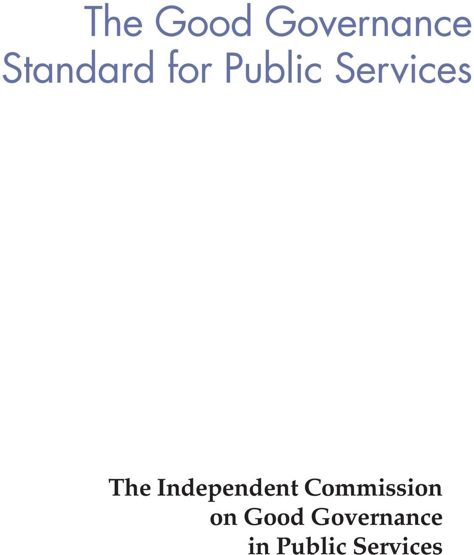 The Independent Commission