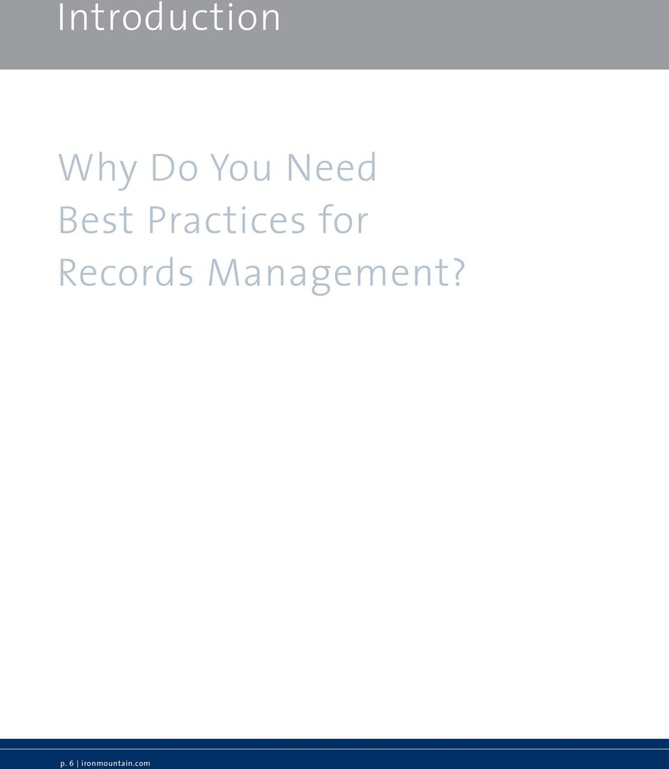 Practices for Records