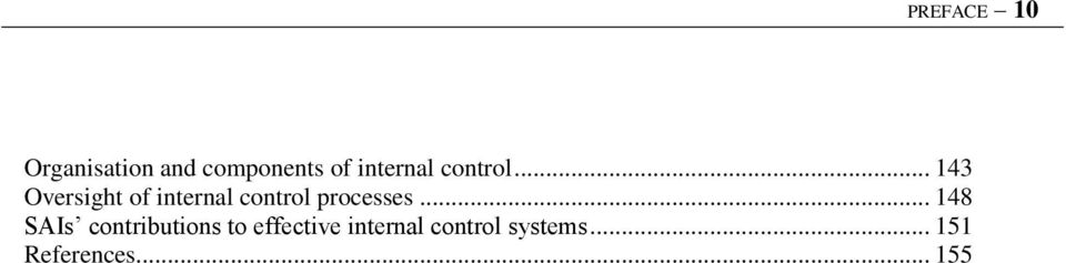 .. 143 Oversight of internal control processes.