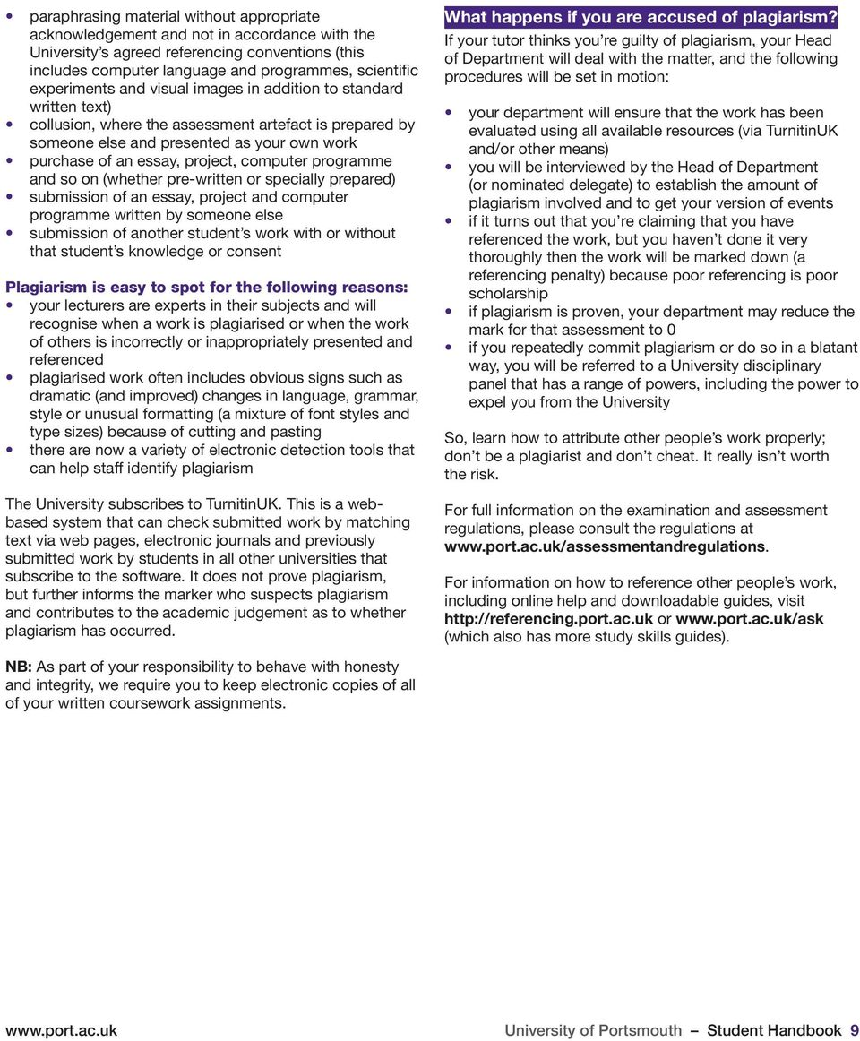 university of portsmouth student handbook pdf computer programme and so on whether pre written or specially prepared submission of