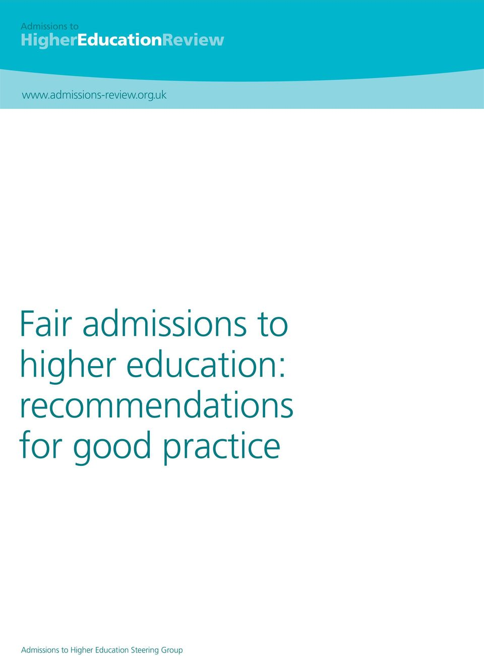 education: recommendations for good