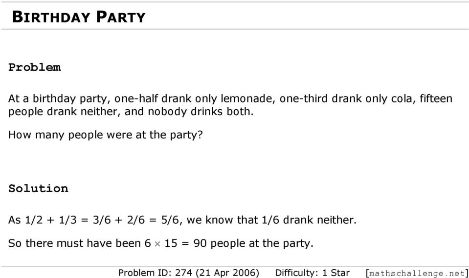 How many people were at the party?