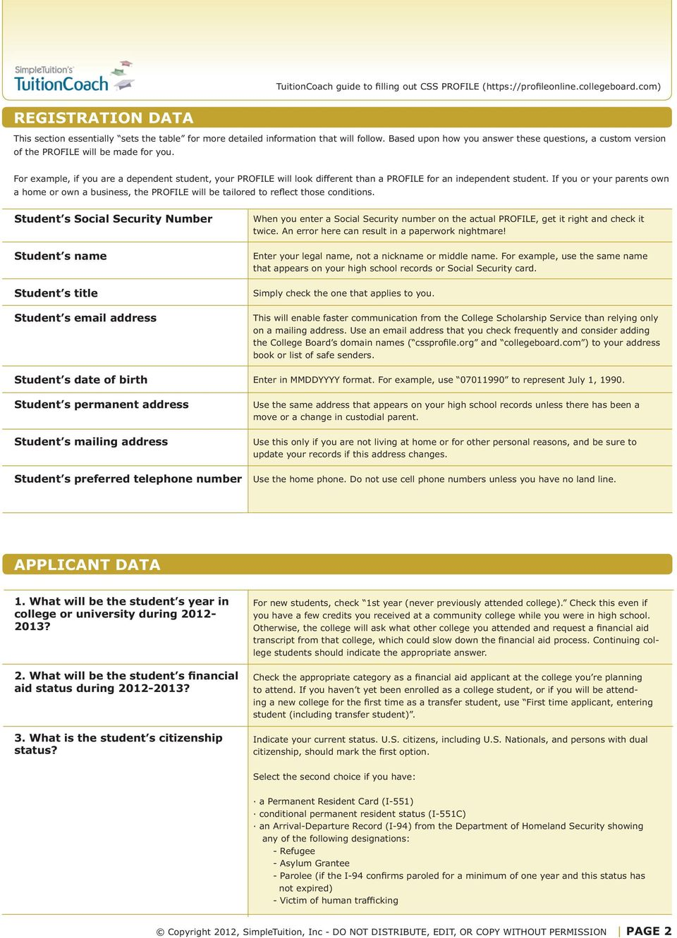 Worksheets Css Profile Worksheet worksheet guidelines why use this tool how does the css profile for example if you are a dependent student your will look different than
