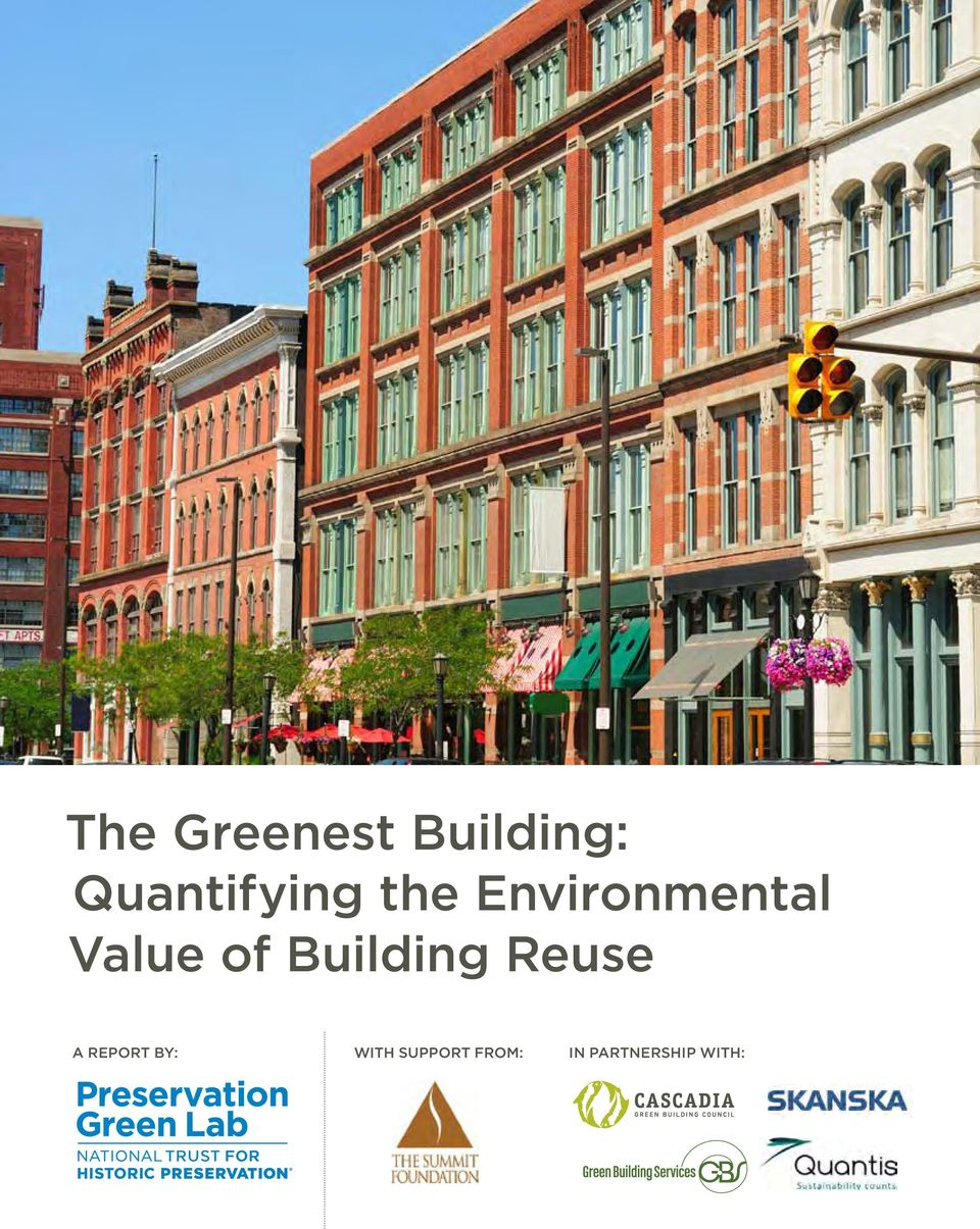 Value of Building Reuse A Report