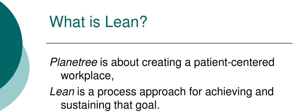 patient-centered workplace, Lean
