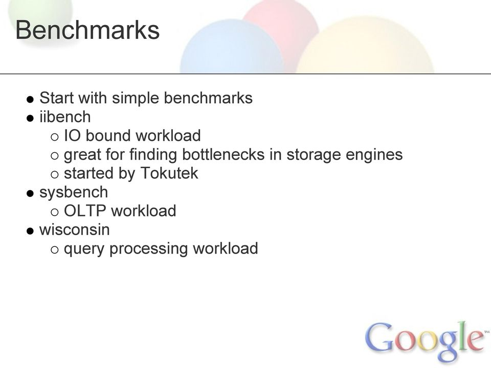 in storage engines started by Tokutek sysbench