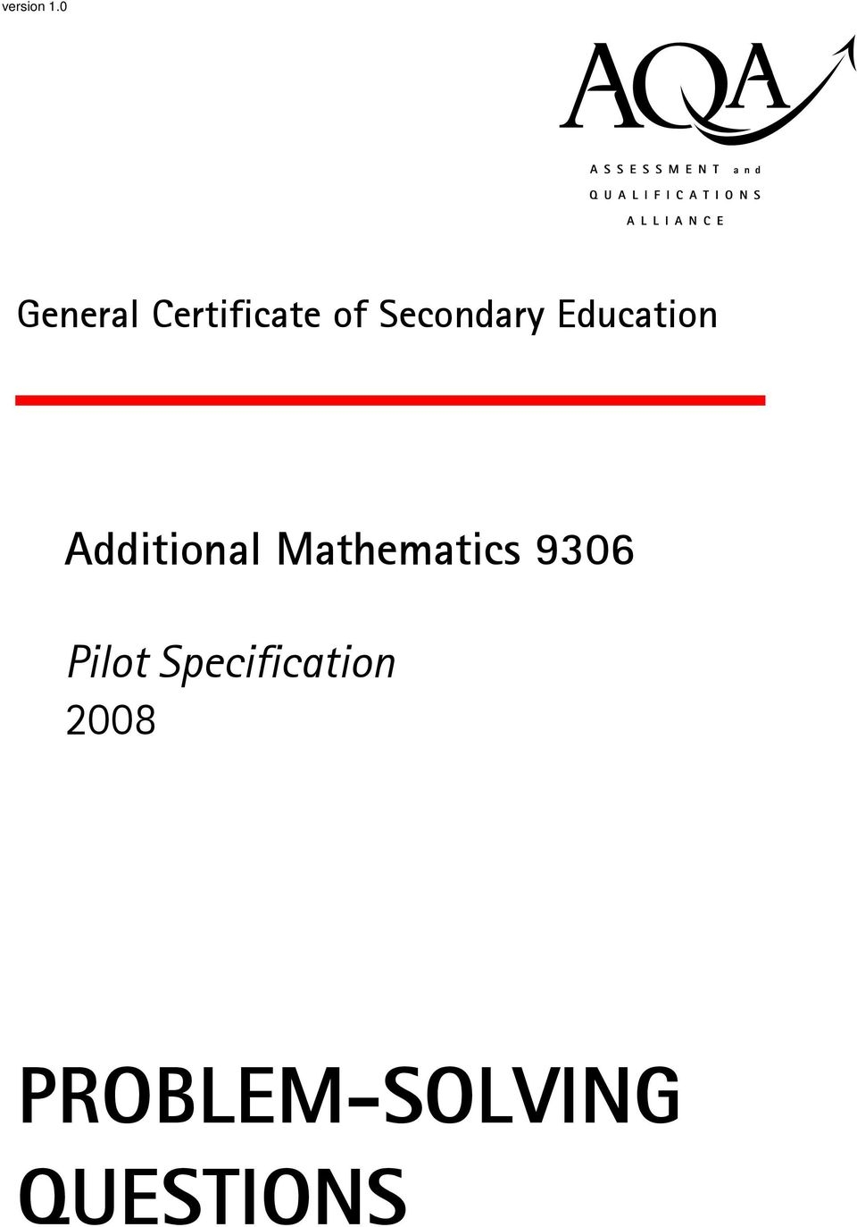 Secondary Education Additional