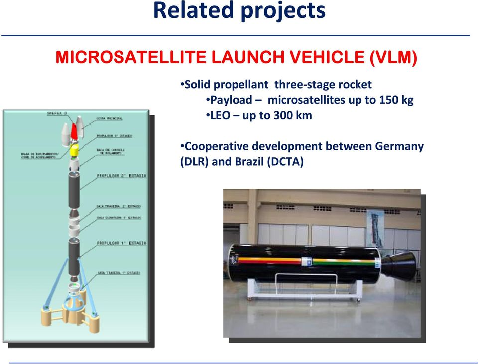 microsatellites up to 150 kg LEO up to 300 km