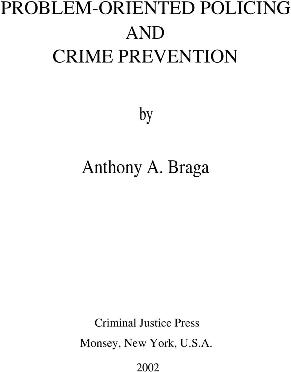 Braga Criminal Justice Press