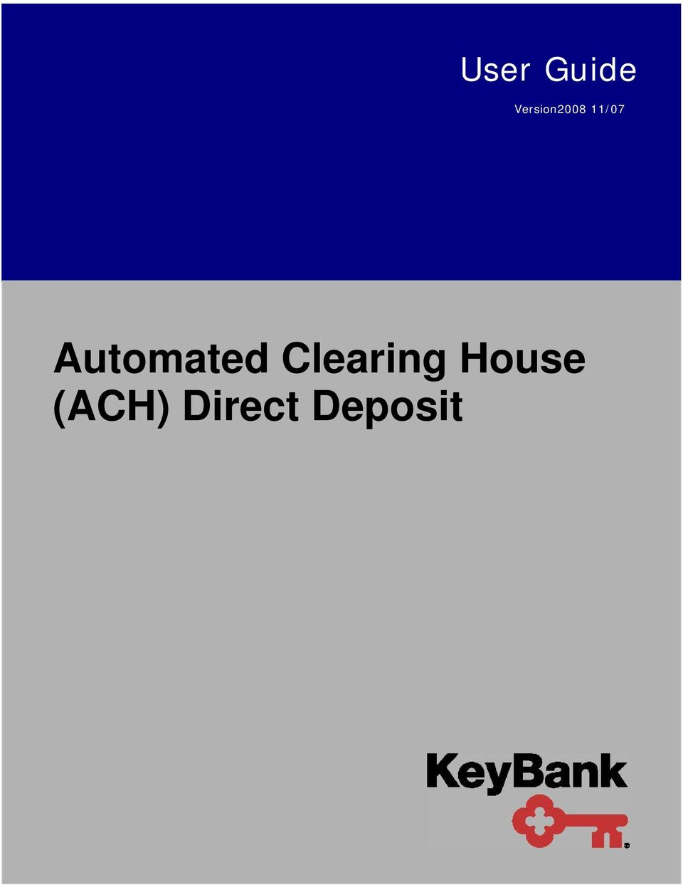 Automated Clearing