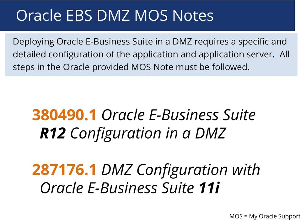 All steps in the Oracle provided MOS Note must be followed. 380490.