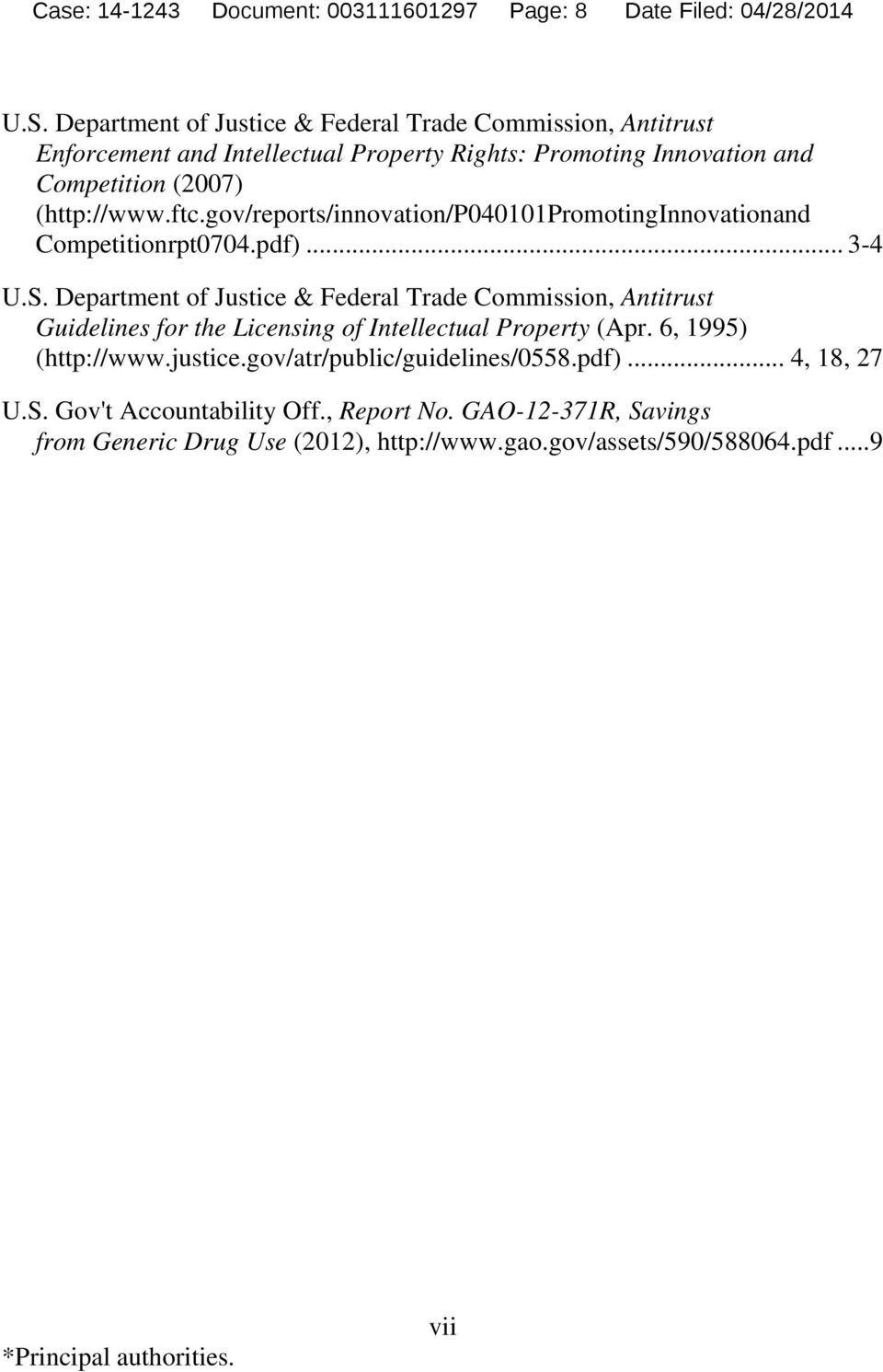 gov/reports/innovation/p040101promotinginnovationand Competitionrpt0704.pdf)... 3-4 U.S.