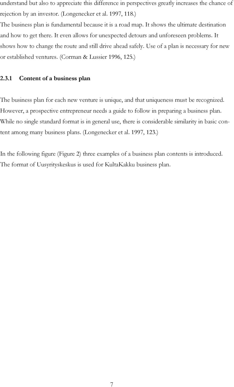 appendix for a business plan for a bakery