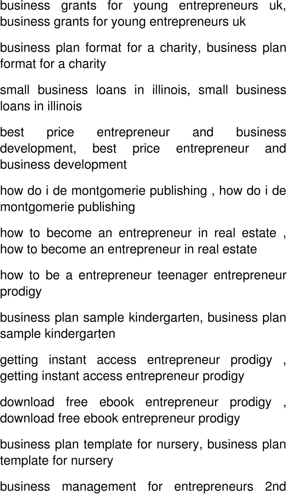 A successful entrepreneur in india business plan template