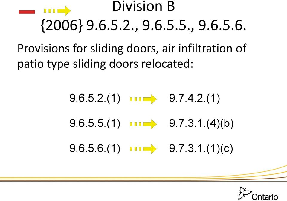 sliding doors, air infiltration of patio type