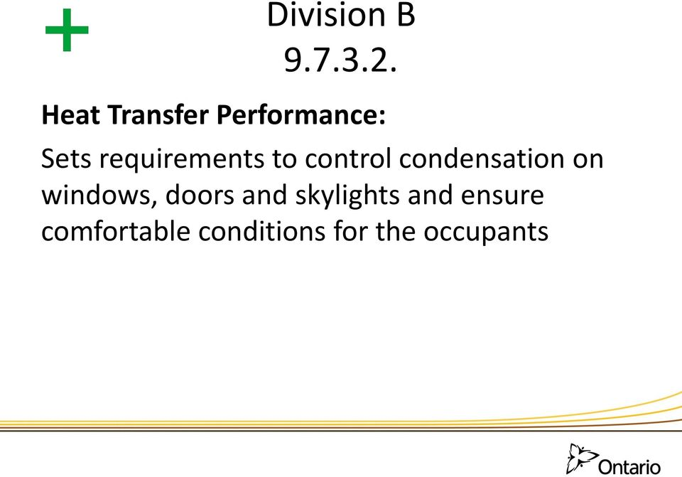 requirements to control condensation on