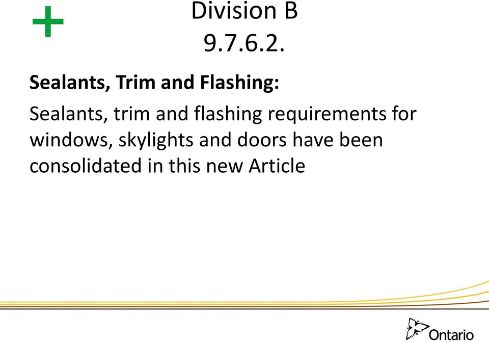 trim and flashing requirements for