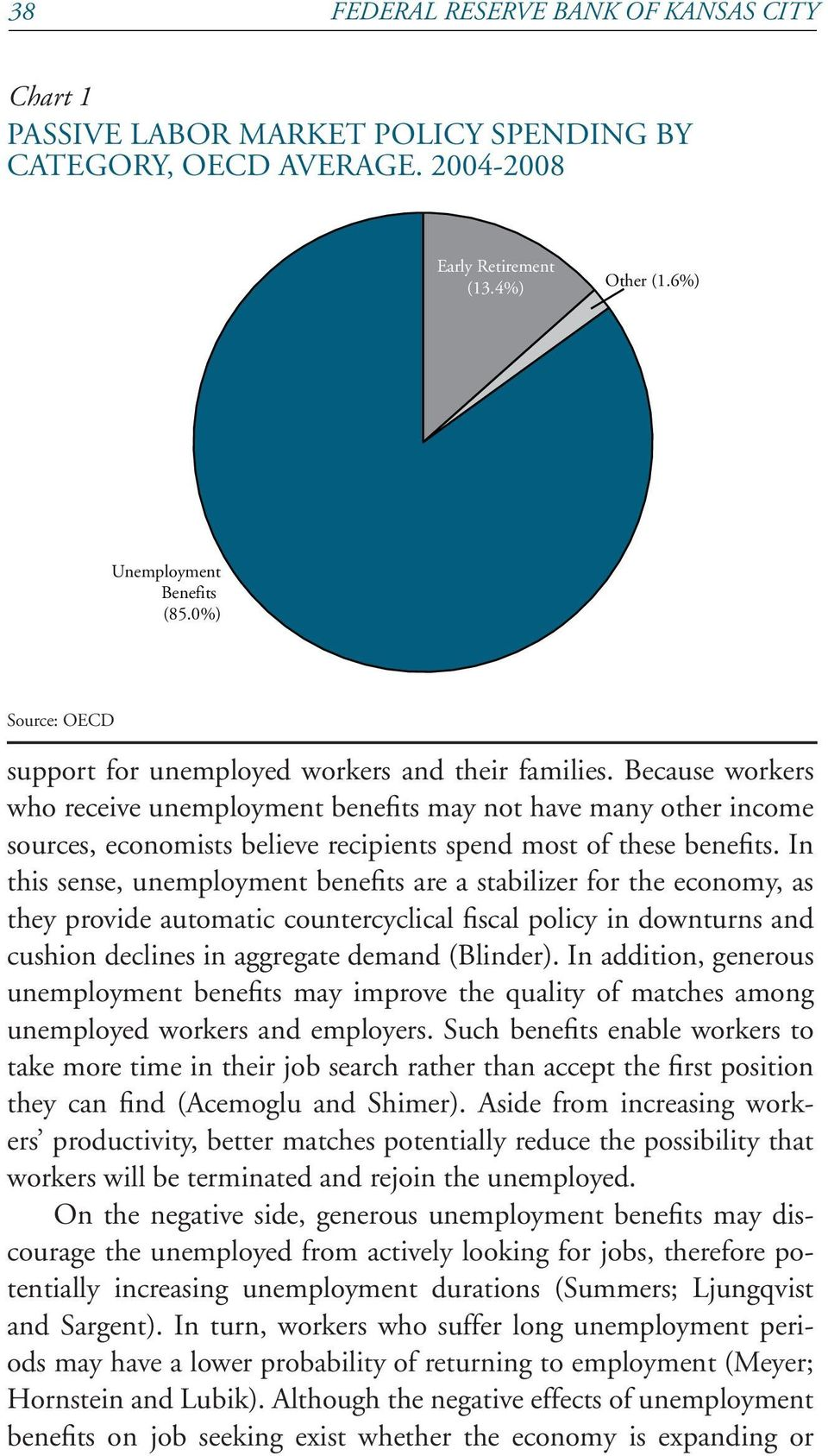 Because workers who receive unemployment benefits may not have many other income sources, economists believe recipients spend most of these benefits.