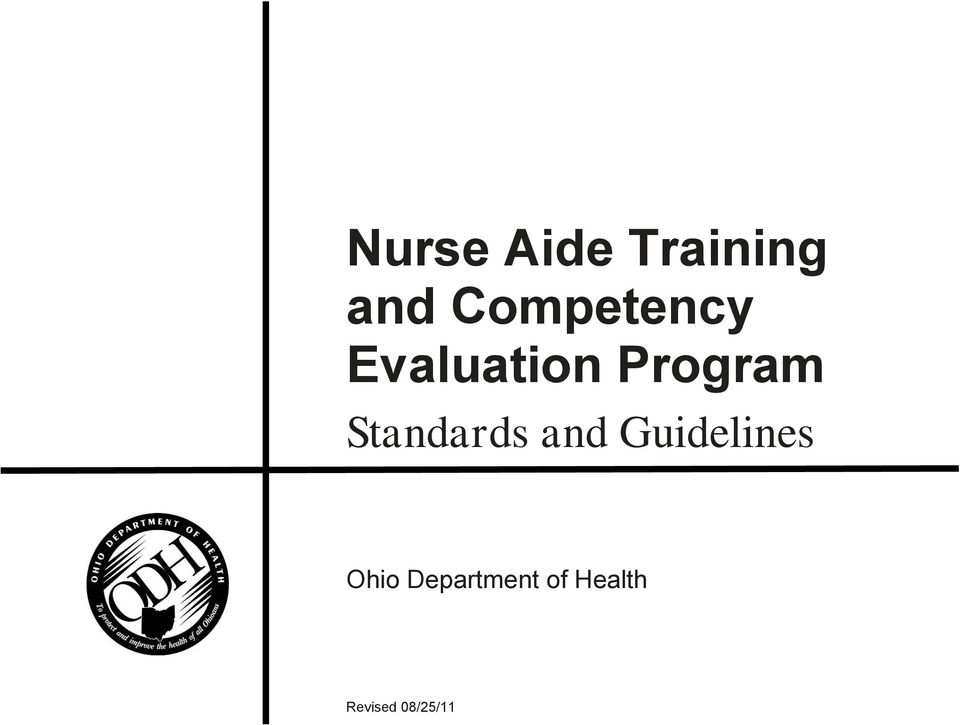 Standards and Guidelines Ohio