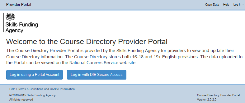 4. Provider Portal Account Login (SFA or EFA-funded providers who do not have Secure Access accounts) 4.1.