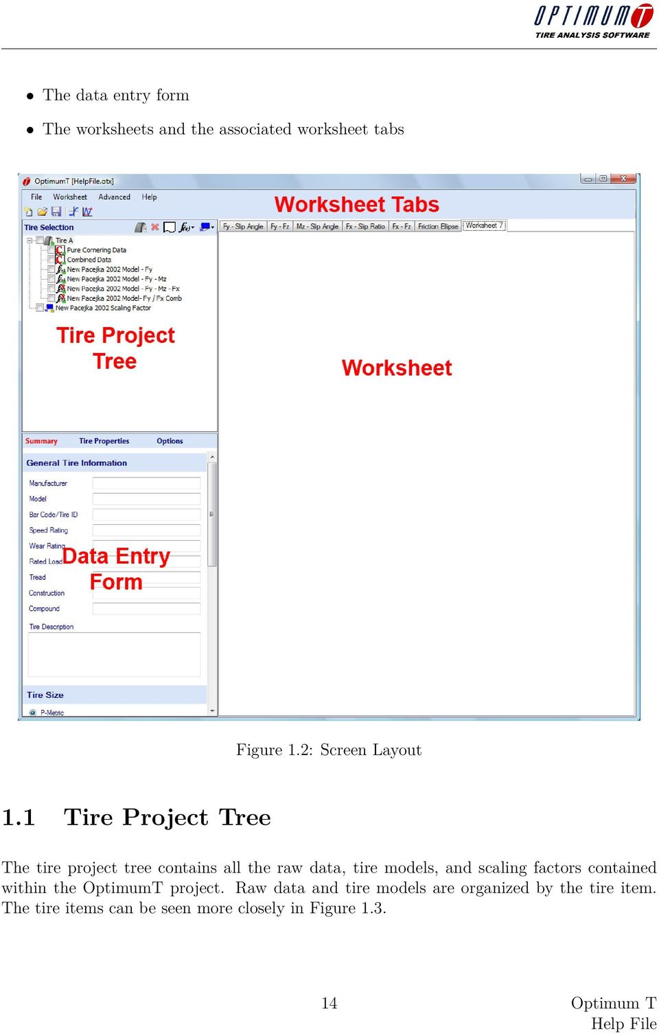 1 Tire Project Tree The tire project tree contains all the raw data, tire models, and