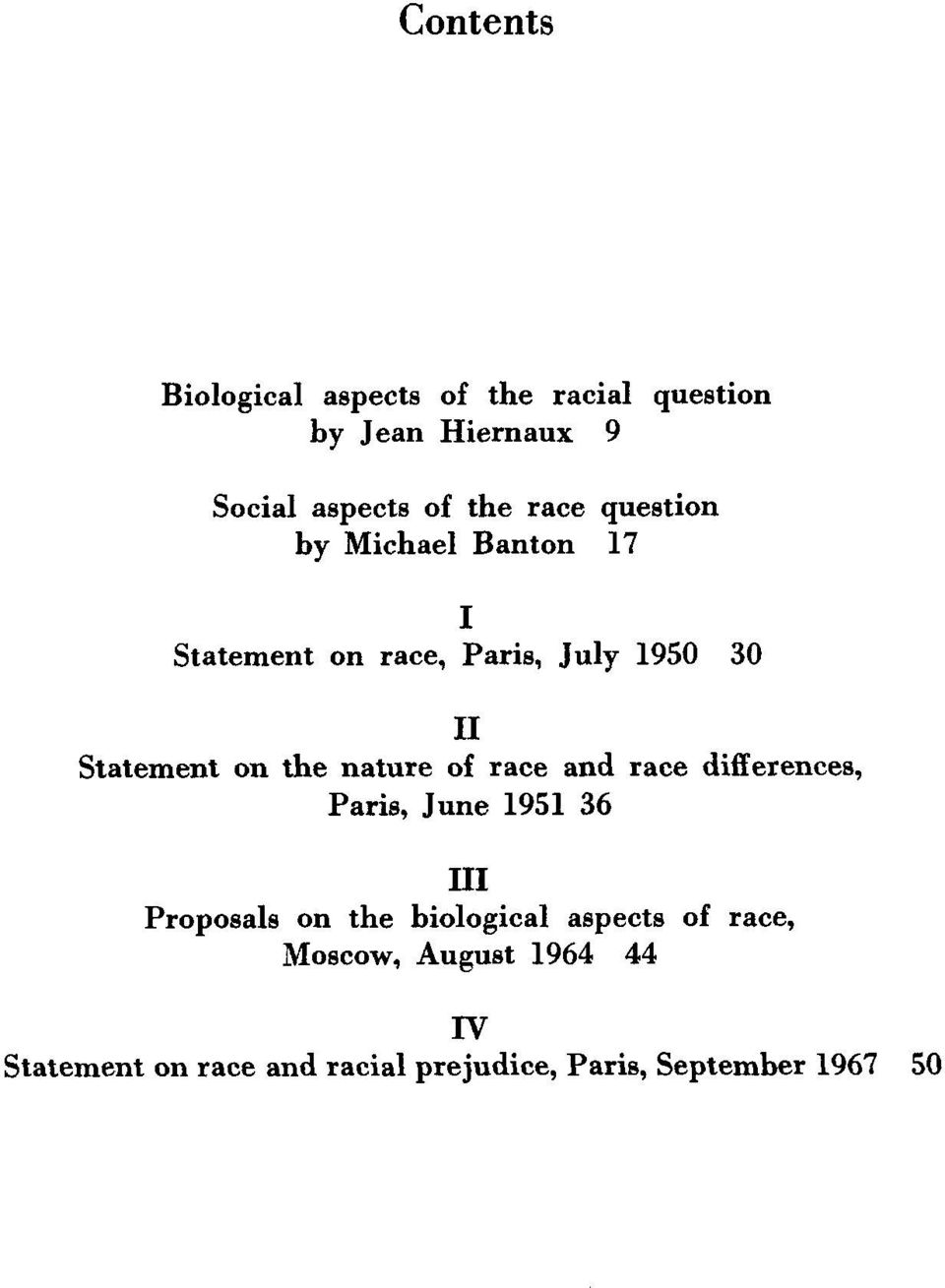 nature of race and race differences, Paris, June 1951 36 III Proposals on the biological