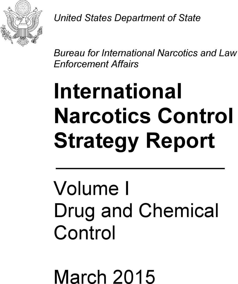 Affairs International Narcotics Control