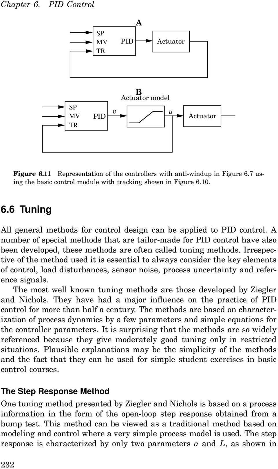 A number of special methods that are tailor-made for PID control have also been developed, these methods are often called tuning methods.