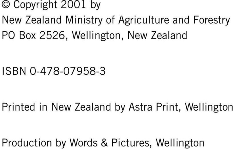 0-478-07958-3 Printed in New Zealand by Astra Print,