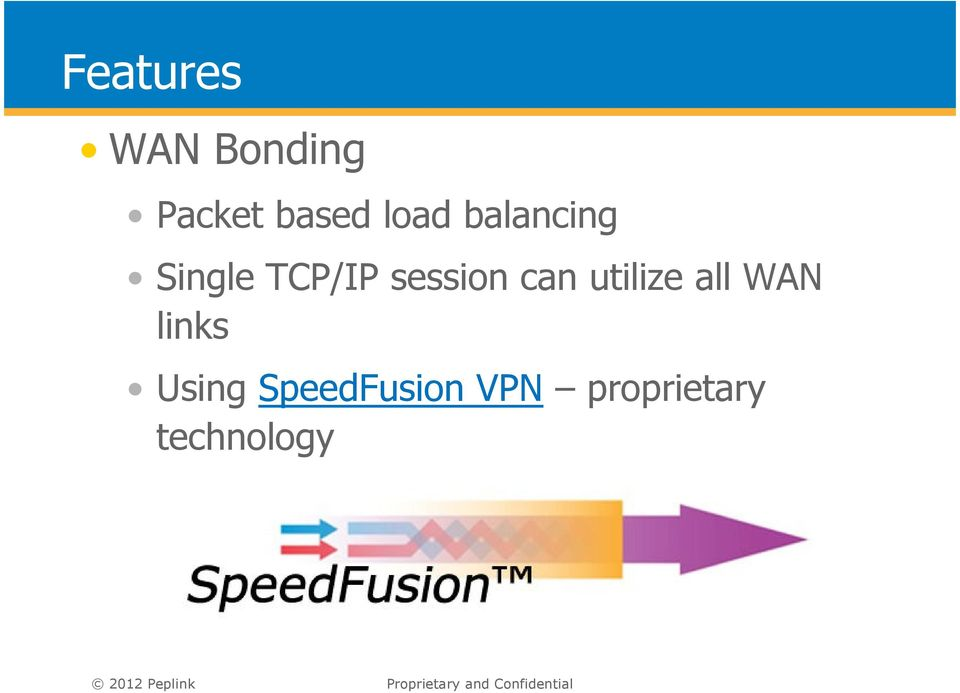 utilize all WAN links Using SpeedFusion