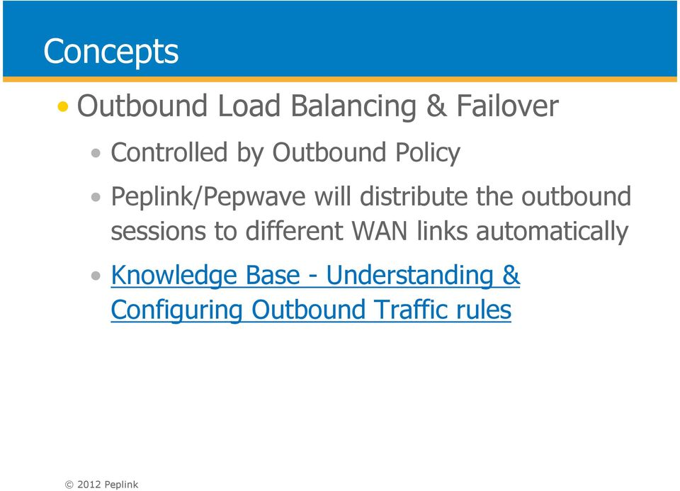 outbound sessions to different WAN links automatically
