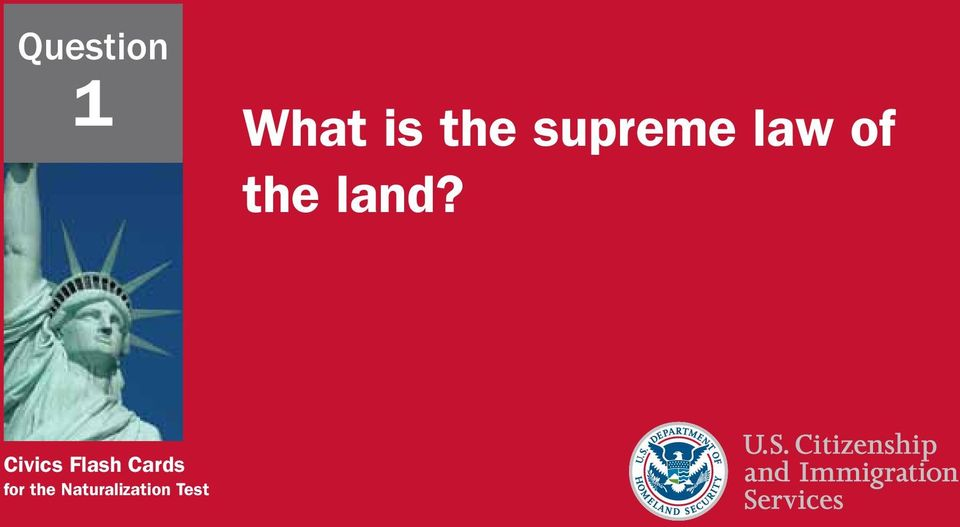 Civics Flash Cards for
