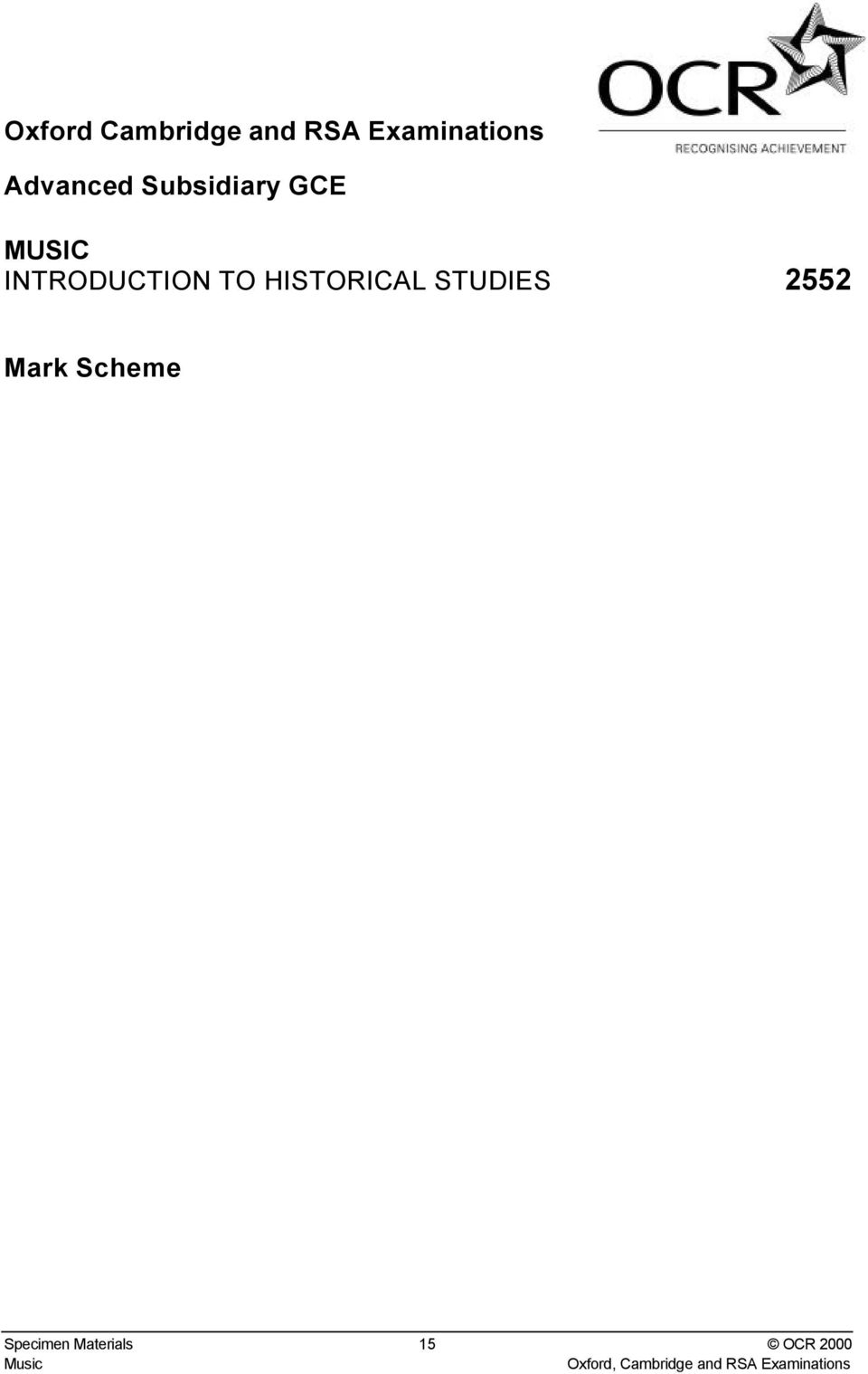 INTRODUCTION TO HISTORICAL STUDIES