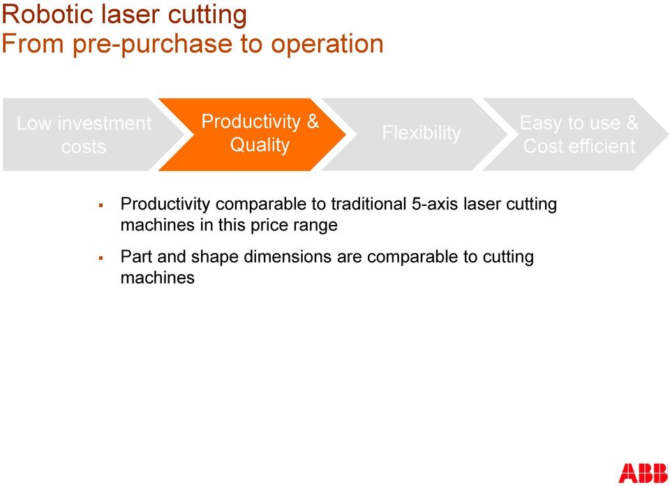 Productivity comparable to traditional 5-axis laser cutting machines in