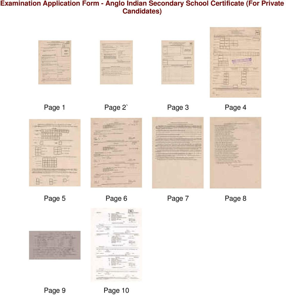 Private Candidates) Page 1 Page 2` Page 3