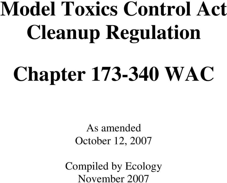 173-340 WAC As amended October