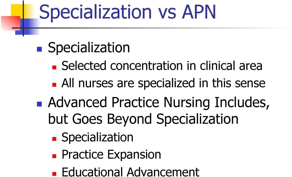 Advanced Practice Nursing Includes, but Goes Beyond