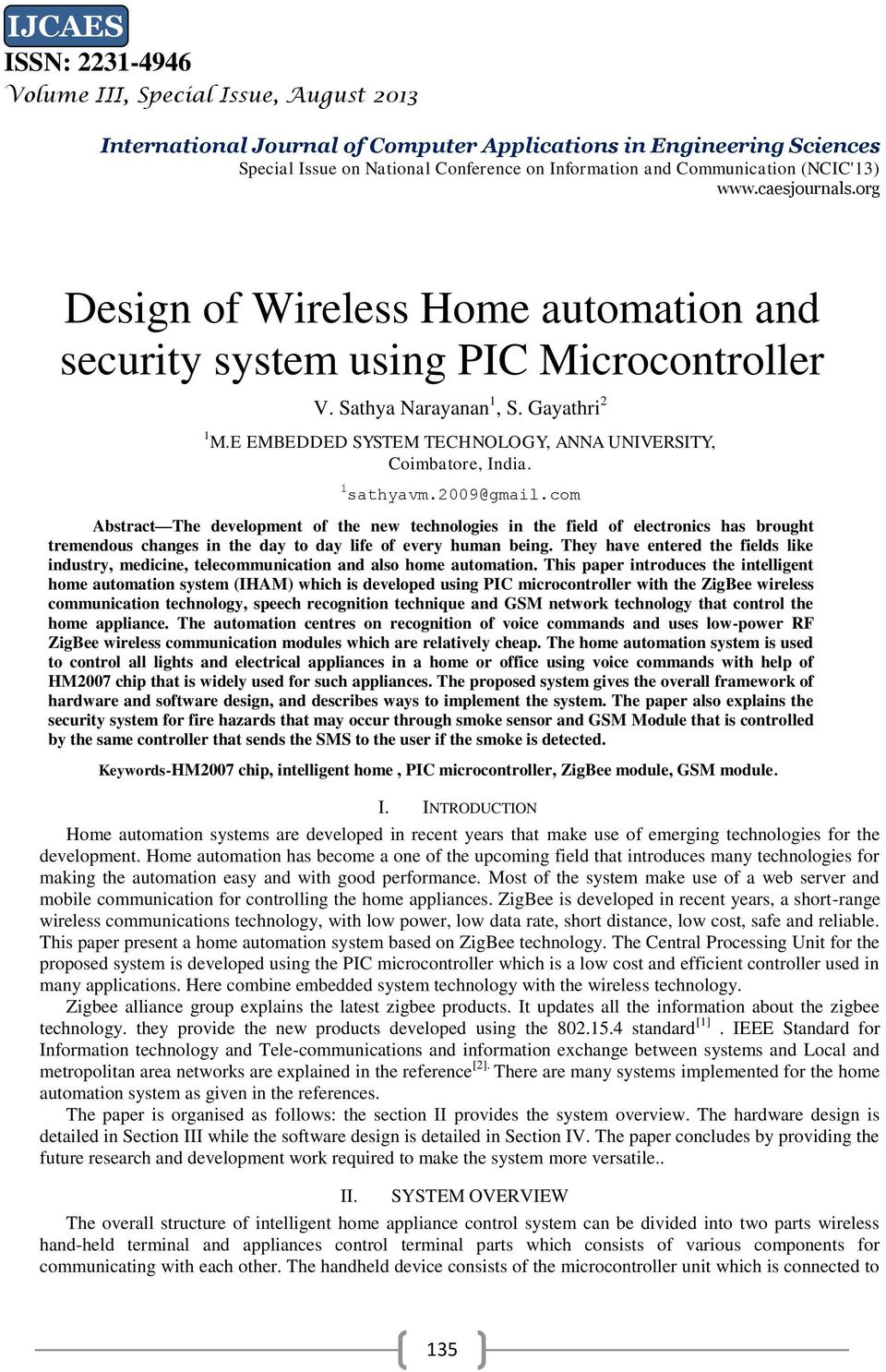 Design of Wireless Home automation and security system using PIC ...