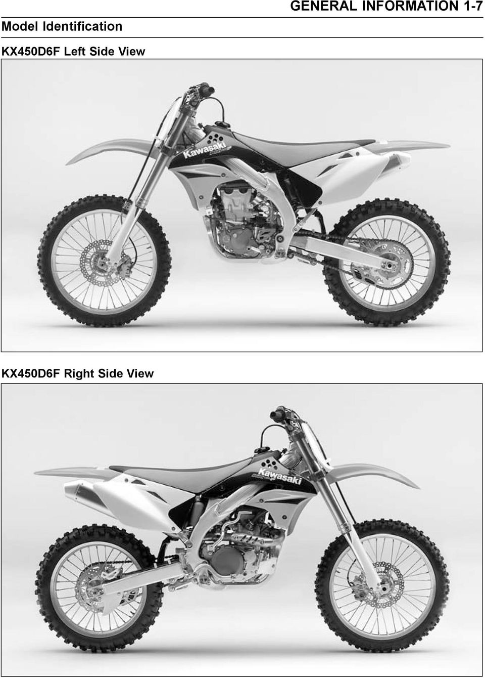 KX450D6F Left Side View