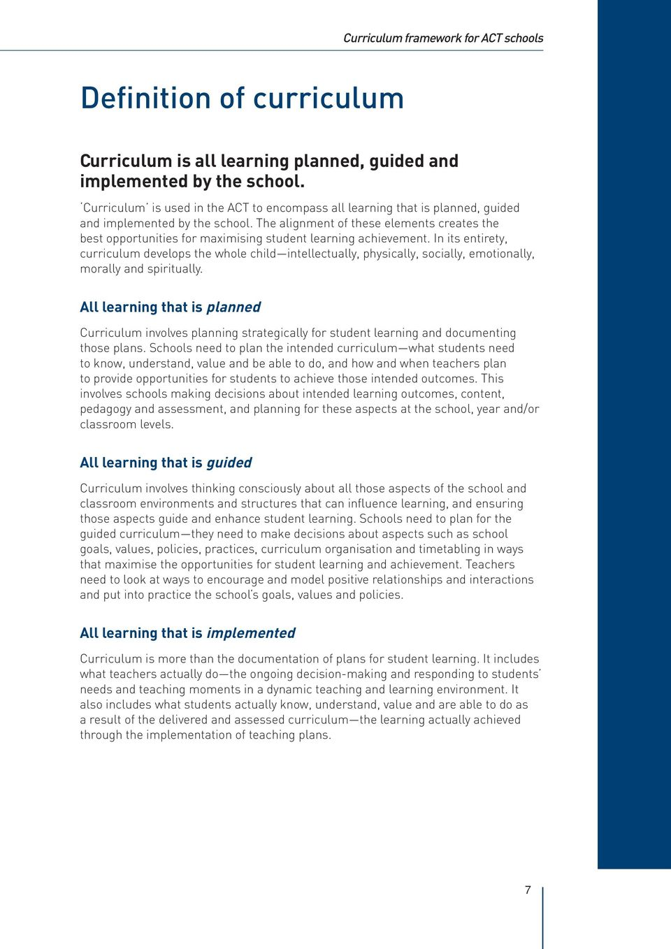 developing curriculum to enhance student learning essay Improving and assessing global learning and what elements of the curriculum enhance student learning7.