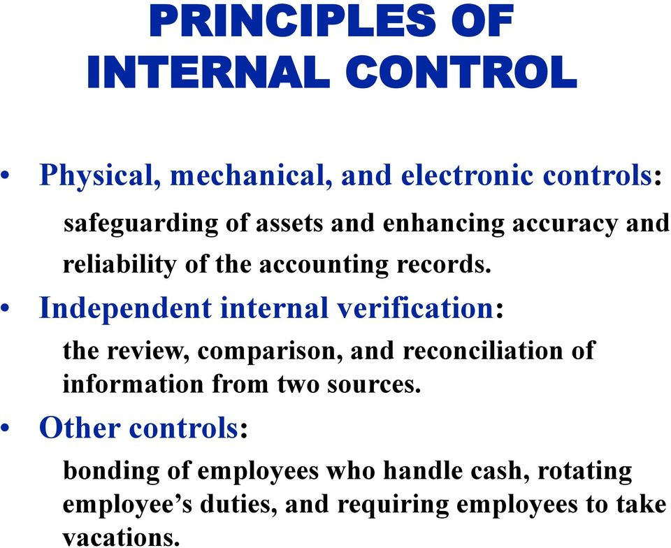 management and internal verification Service organization control audit series: the need for a uniform process of verification of service organizations' internal controls and the implement a.
