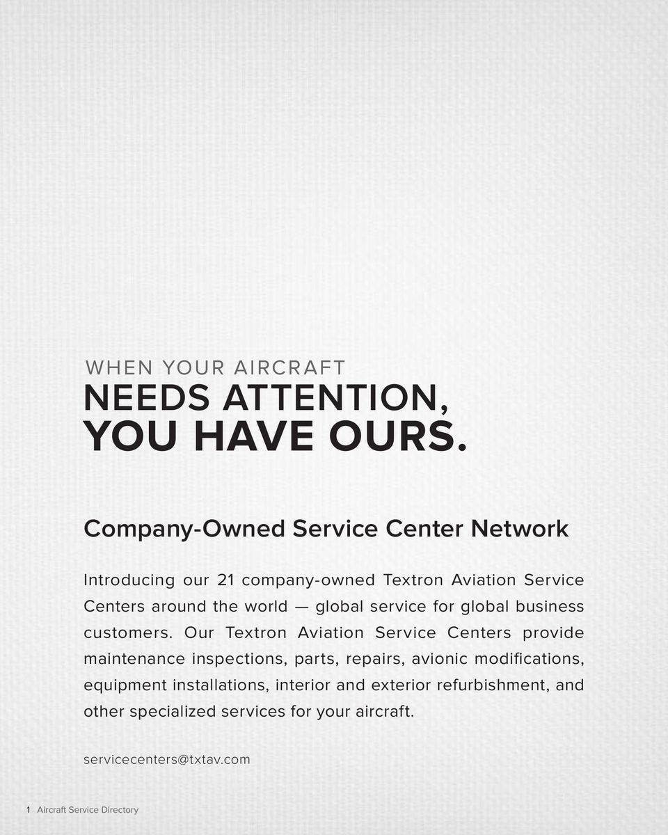 global service for global business customers.