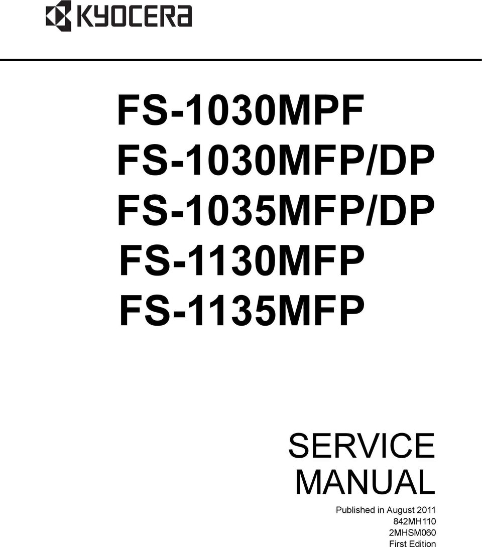 FS-5MFP////// SERVICE MANUAL