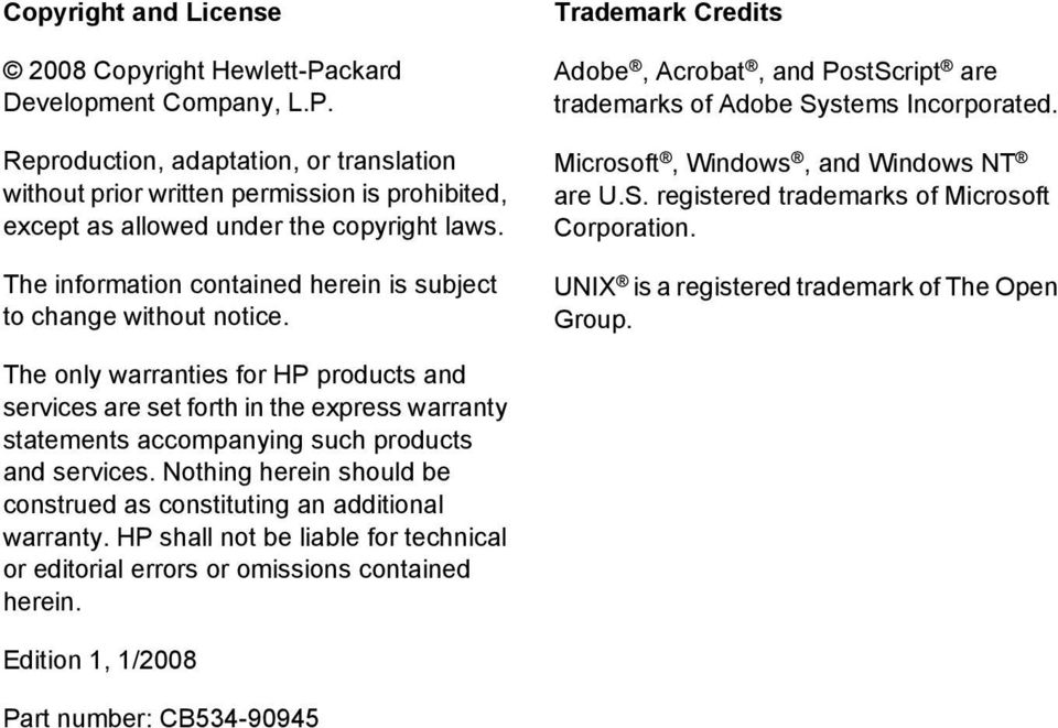 Microsoft, Windows, and Windows NT are U.S. registered trademarks of Microsoft Corporation. UNIX is a registered trademark of The Open Group.